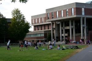 Hampshire College Library Lawn